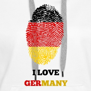 I LOVE GERMANY FINGERABDRUCK T-SHIRT - Frauen Premium Hoodie