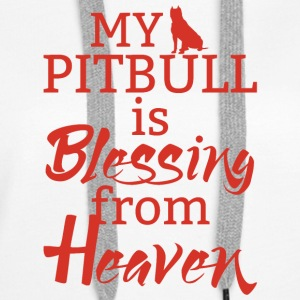 Hund / Pitpull: My Pitbull Is Blessing From Heaven - Frauen Premium Hoodie