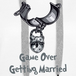 Game Over Getting Married - Premium hettegenser for kvinner