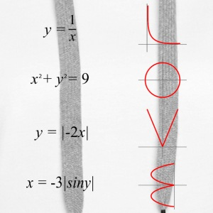 All you need is love math - Bluza damska Premium z kapturem