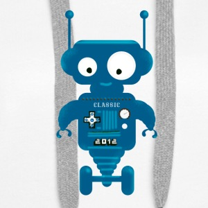 Robot cute small toy AI auto lo - Women's Premium Hoodie