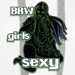 bbw girls sexy black green - Women's Premium Hoodie