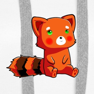 Orange racoon - Women's Premium Hoodie