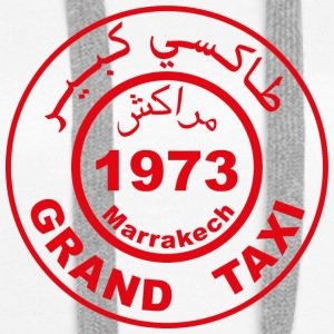 Grand taxi Marrakech - Sweat-shirt à capuche Premium pour femmes