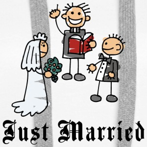 Funny Just Married - Premium hettegenser for kvinner