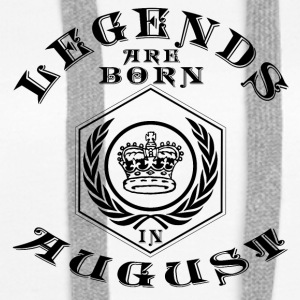 Legends august født bursdagsgave fødsel - Premium hettegenser for kvinner