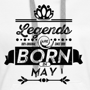 All the legends born in may birthday gift - Women's Premium Hoodie