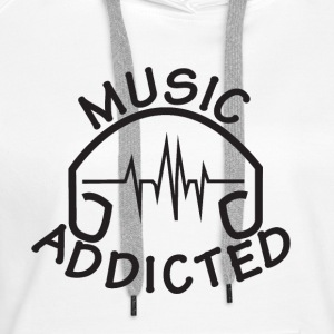MUSIC_ADDICTED-2 - Bluza damska Premium z kapturem