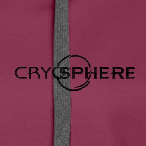 CRYOSPHERE LOGO BLACK - Dame Premium hættetrøje