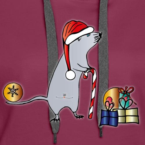 Weihnachtsmaus - Frauen Premium Hoodie