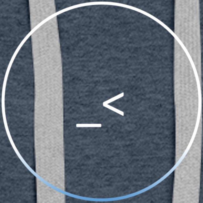 White and white-blue logo