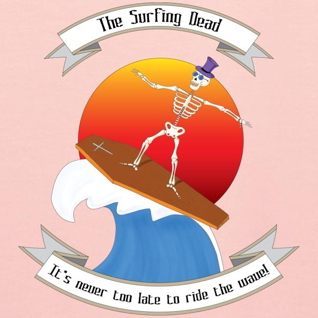 Skeleton surfing on coffin lid