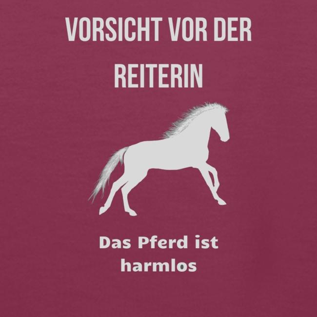 Schöne Pferdesprüche T Shirts Vorsicht Frauen Premium Hoodie
