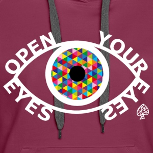 Shapes - Open Your Eyes White - Frauen Premium Hoodie
