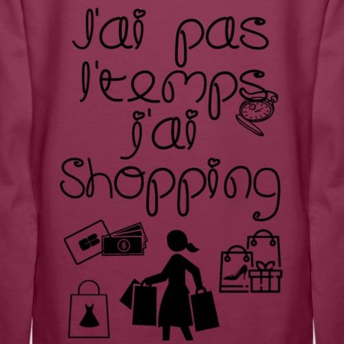 J'ai shopping - Sweat-shirt à capuche Premium pour femmes