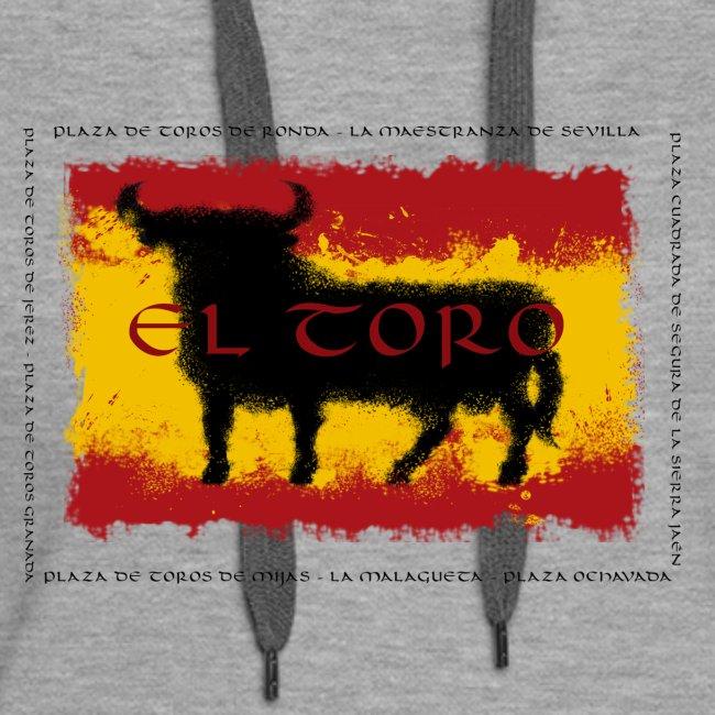 Spain Flag with bull