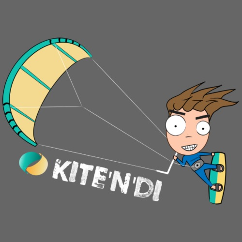 kite'n'di rider - Felpa con cappuccio premium da donna