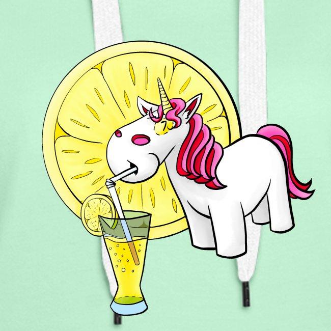 Kuscheleinhorm mit Zitronenlimonade