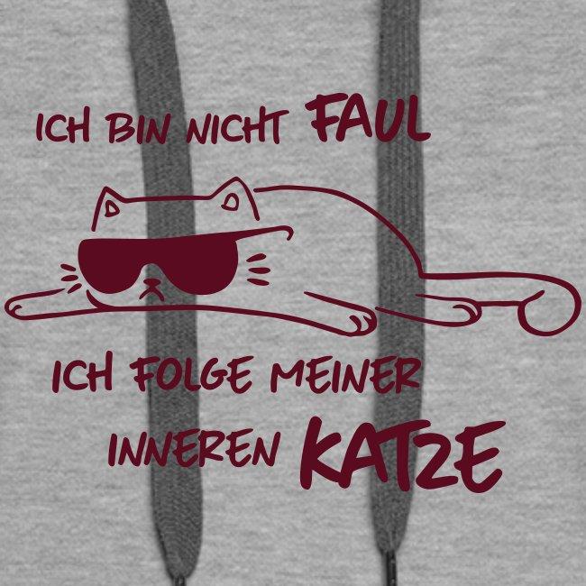 Vorschau: Faul inneren Katze - Frauen Premium Hoodie