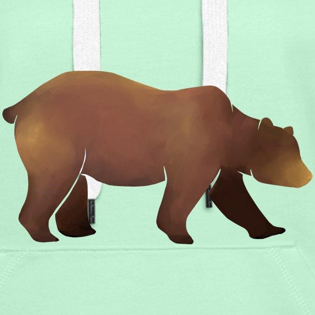 Silhouette eines Bären in Brauntönen