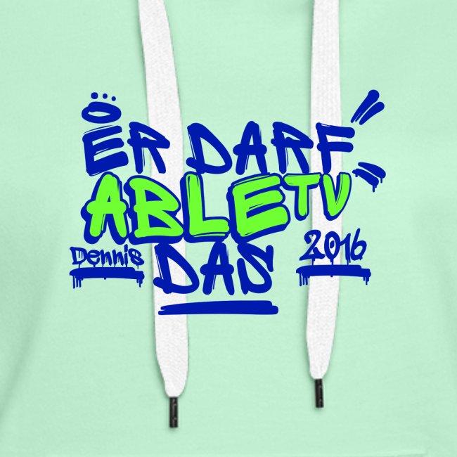 AbleTV Grafitti Logo Marken Shirt (Er Darf Das)