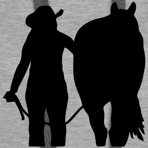 Westernreiterin mit Pferd individualisierbar