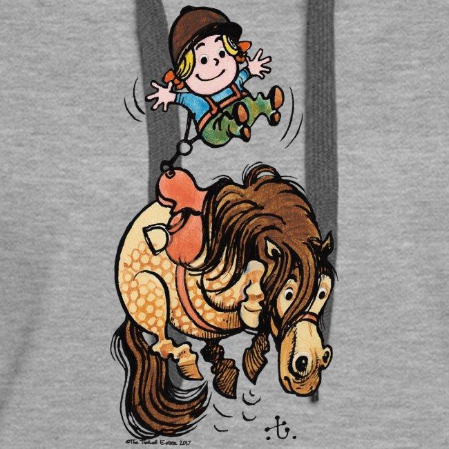 Thelwell Reiter Mit Gurt Und Buckelndes Pony