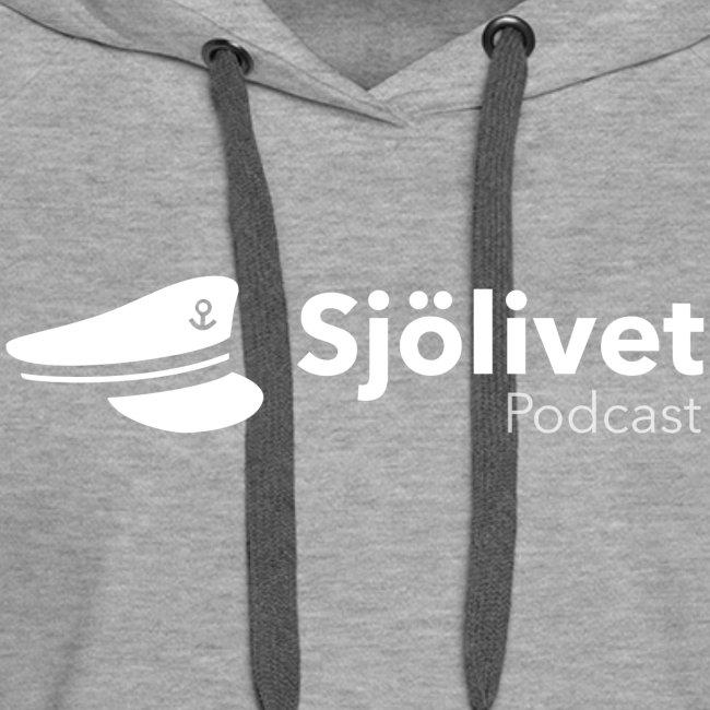 Sjölivet podcast - Vit logotyp