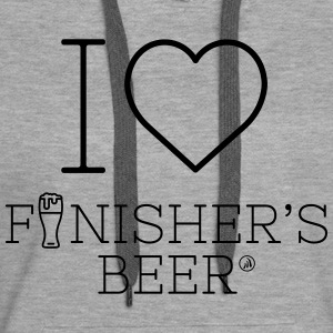 I love Finisher's Beer - Sweat-shirt à capuche Premium pour femmes