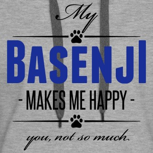My Basenji makes me happy - Frauen Premium Hoodie