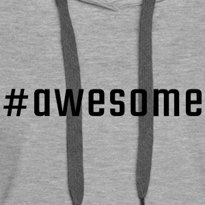 #awesome - Sweat-shirt à capuche Premium pour femmes