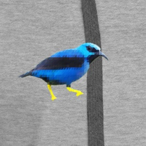 Low Poly BlueBird - Women's Premium Hoodie