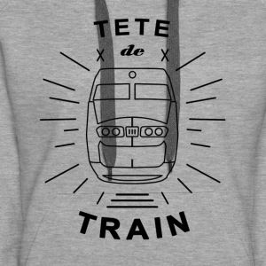 Tete_De_Train_Black_Aubstd - Women's Premium Hoodie