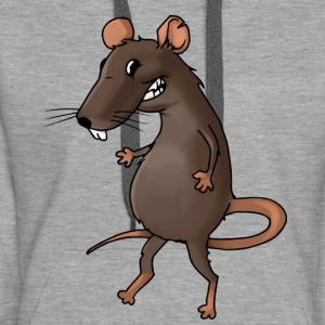 Fiese Ratte Nager Maus Ungeziefer Nagetier - Frauen Premium Hoodie