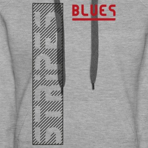 Blues Stripes - Bluza damska Premium z kapturem
