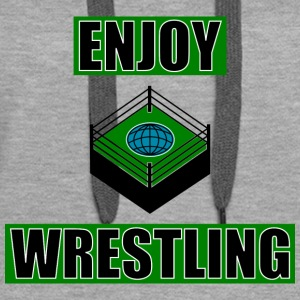 ENJOY_WRESTLING_GREEN_DesASD - Premium hettegenser for kvinner