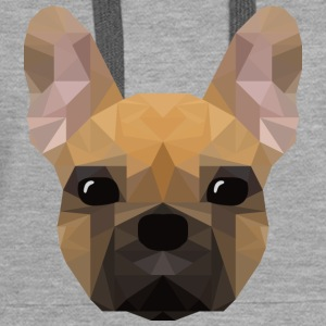 French Bulldog - low poly style - Frauen Premium Hoodie