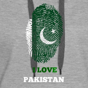 I LOVE PAKISTAN FINGERABDRUCK T-SHIRT - Frauen Premium Hoodie