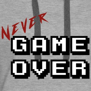 Never game over white - Women's Premium Hoodie