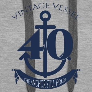 40-årsdag: Vintage Aircraft - 40 - The Anchor - Premium hettegenser for kvinner