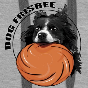 FRISBEE Border Collie DOG - Sweat-shirt à capuche Premium pour femmes