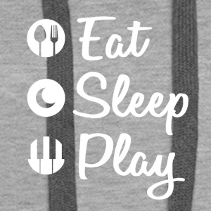 Eat Sleep Piano - Premium hettegenser for kvinner