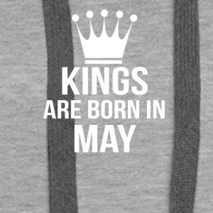 kings are born in may - Women's Premium Hoodie