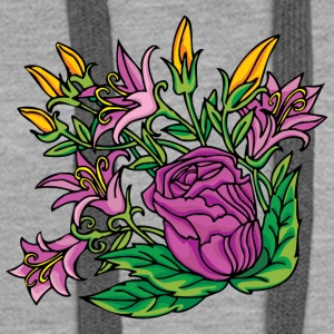 1purple flowers - Women's Premium Hoodie