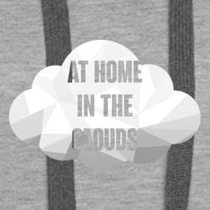 Hipster: At Home in the Clouds - Sweat-shirt à capuche Premium pour femmes