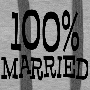 Just Married 100% - Women's Premium Hoodie