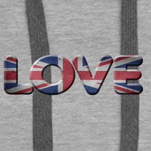 I LOVE ENGLAND GREAT BRITIAN - Women's Premium Hoodie