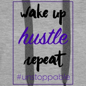 wake up, hustle, repeat - Women's Premium Hoodie