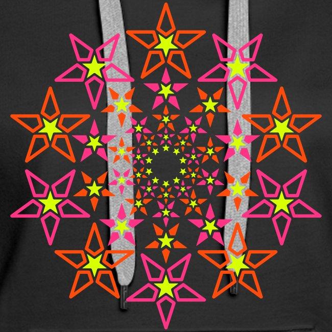 fractal star 3 väri neon