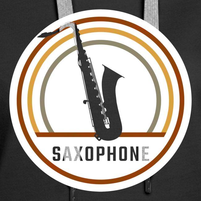 Saxophone Circle Retro